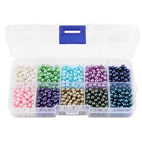 10 Farben 1000 Stück/Box Kunststoff Kunstperlen Perlen DIY Schmuck Perlen für Handarbeit Halskette...