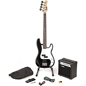 RockJam Full Size Bass Guitar Super Kit With Amp Tuner Stand Travel Bag And Accessories