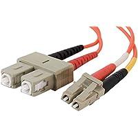 C2G 2m LC/SC LSZH Duplex 50/125 Multimode Fibre Patch (Multimode Duplex Lc Sc Fibra)