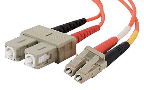 C2G 5m LC/SC LSZH Duplex 50/125 Multimode Fibre Patch Cable 5m Orange câble de fibre (Multimode Duplex Lc Sc Fibra)