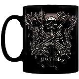 Guns N Roses esqueleto estrella negro caja alta calidad oficial taza de café