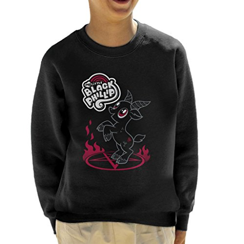 Cloud City 7 The Witch My Little Black Phillip Pony Mix Kid's Sweatshirt (My Pony-horror-spiele Little)