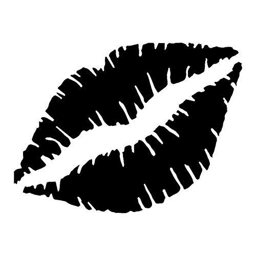 haotong11 27 * 20,3 cm Lippen Kuss Personalisierte Auto Aufkleber Mode Auto Kratzer Motorrad Zubehör 5 stücke
