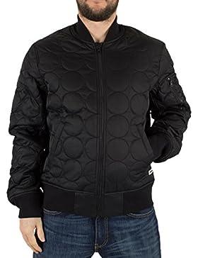 Converse Hombre Acolchado Escudo chaqueta de bombardero Logo, Negro