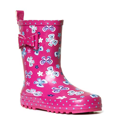 Wellygogs Girls Pink Butterfly Welly