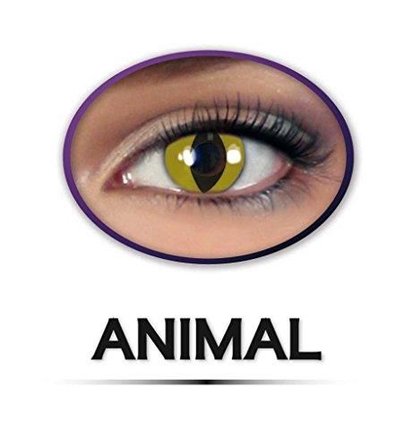 Kontaktlinsen farbig ohne Stärke, Katzenaugen, Tiger, Leopard, Schlange, Tieraugen (Närrisches Werte)