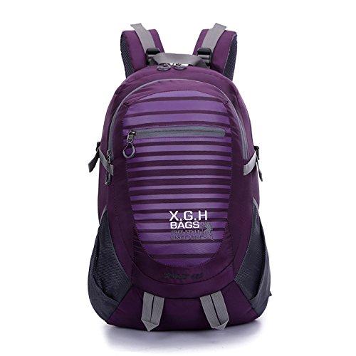 LINGE-Bergsteigen Tasche große Reise Rucksack wasserdicht outdoor Outdoor-Sport für Männer und Frauen 45L Purple