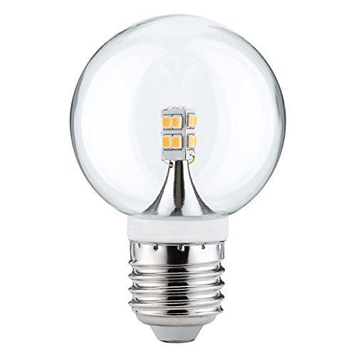 10 x Paulmann LED Mini Globe G60 2,5W fast 25W E27 Klar Kugel Warmweiß 2700K 360°