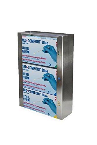 Handschuhboxenhalter Edelstahl für 3 Boxen