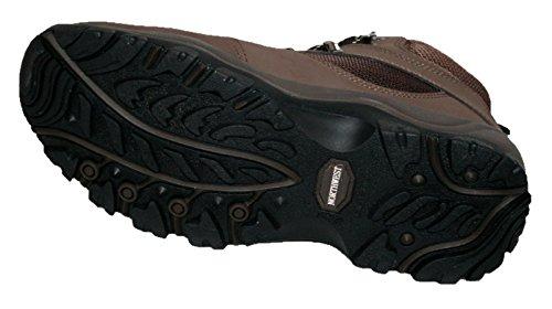 Da uomo da escursionismo, trekking, colore marrone, con lacci e completamente impermeabile Marrone