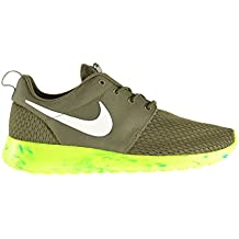 wholesale dealer 8a2ef 2ead1 Nike Roshe Run M Men s Shoes Medium Olive White-MC Green-Volt 669985