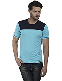 Five Stones Mens' Cotton Solid Tee Designer Round-Neck T-Shirt With Half Sleeve
