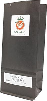 Racine de bardane organique et le thé Oolong sachets de tisane - paquet de 25