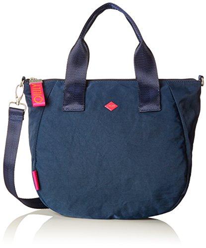 Oilily Damen Groovy Handbag MHz Henkeltasche, Blau (Dark Blue), 15x25x40 cm