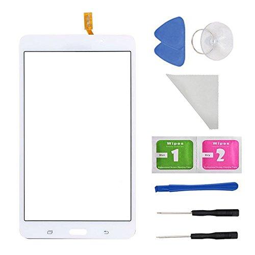 Tab 7 Galaxy 4 Ersatz-bildschirm (E Soul weiß Touch screen panel Digitizer Glas für Samsung Galaxy Tab 4SM-T230T230NU 17,8cm Zoll mit (Kleber) und Werkzeug)