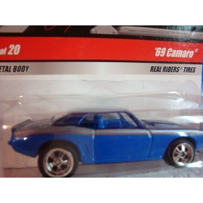 Hot Wheels '69 Camaro Larrys Real Rider Issue Blue #17 1/64 Scale Collector by Hot Wheels