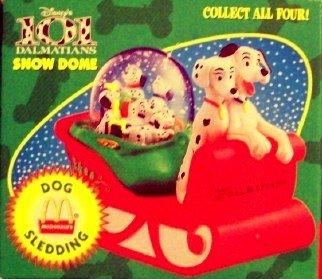 Disney 's 101Dalmatiner Snow Dome Hund Rodeln