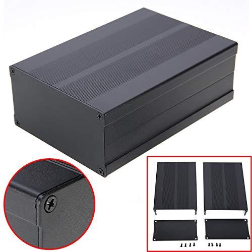 Sellify Black Project Gehäuse Aluminium Leiterplatten-Gehäuse Box 150x105x55mm mit Schrauben