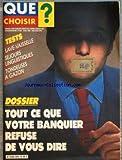 QUE CHOISIR [No 204] du 01/05/1985 - - ELECTROMENAGER - COMMENT S'Y RETROUVER DANS LE DEDALE DES MARQUES - TESTS - GRILLE-PAIN - COUSCOUS ET PERCEUSE A PERCUSSION