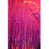 Party Propz Pink Foil Curtain for Wedding,Baby Shower, Birthday, Bachelorette,Bride to Be Decoration