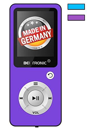 BERTRONIC Made in Germany BC04 Royal MP3-Player ★ Bis 100 Stunden Wiedergabe ★ Radio | Portabler Player mit Lautsprecher | Audio-Player für Sport mit Micro SD-Kartenslot