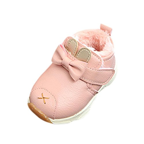 FEITONG Kinder Stiefel, Kinder Jungen Mädchen Winter Martin Stiefel Sneaker Casual Warme Schuhe (19, Rosa)