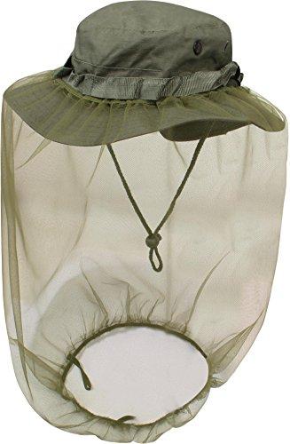 normani Australian Outdoor Boonie Hat mit Moskitokopfnetz Farbe Oliv Größe S