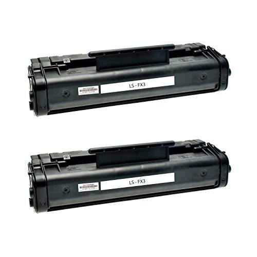 2 Toner kompatibel für Canon FX3 CFX L 3500 4500 IF Fax L 200 200 250 290 Series 300 3500 IF 4500 IF Faxphone 75 ImageClass 1100 Laserclass 1060 P Multpass L 60-1557A003 - Schwarz je 3000 Seiten