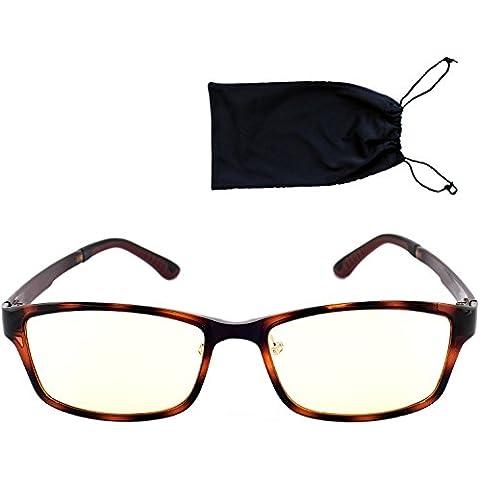 Top Life gafas para pantallas–Montura escama muy elegante–Protégez vos ojos con estilo–Filtro 70% de la luz azul LED (ordenador, smartphone, tablet)–límite la fatiga visual y prevención del crecimiento del DMLA