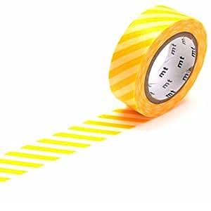 Nastro coprente mt Washi decorativo a strisce gialle