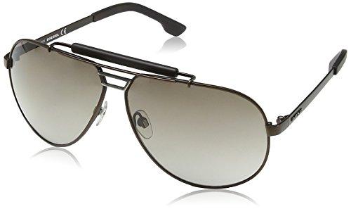 Diesel Unisex DL0027 Sonnenbrille, Dark Havana Frame / Gradient Dark Grey, Gr. One size