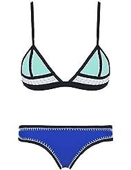Ebuddy Bikini en néoprène pour femme Crochet et points cousus main