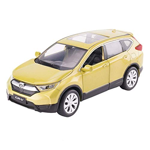 KaKaDz Model Car CRV Fuoristrada 01:32 analogico di Fusione sotto Pressione in Lega di Suono e Luce Tirare Indietro Auto Giocattolo Modello Model Car (Color : Orange)