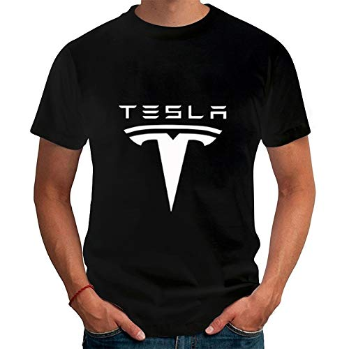 Tesla Printed Men T Shirts Short Sleeve Round Neck Ringer Letters Printed Male Tees Casual Boy's T-Shirt Tops