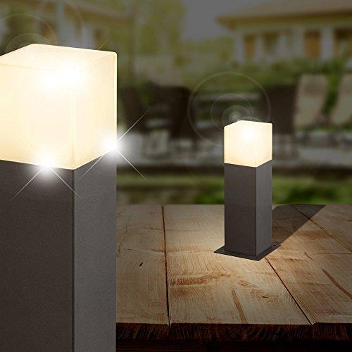 MIA Light Sockel Leuchte ↥300mm/ Anthrazit/ Alu/ AUSSEN Wege Lampe Aussenlampe Aussenleuchte Gartenlampe Gartenleuchte Sockellampe Sockelleuchte Wegelampe Wegeleuchte