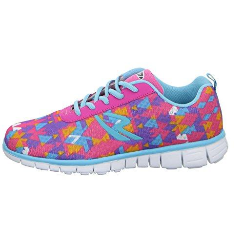 Sneakers HF150541 Mädchen Schnürhalbschuh sportlicher Boden Rot (Pink)