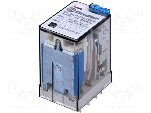 Finder 553490240094 Relais, magnetisch, 4PDT, Spule, 24 VDC, max. Kontakte: 7 A - Magnetisches Relais