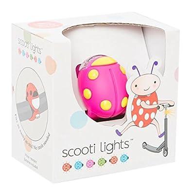 Buggi Lights BUGGISCOOTPYS Scooti Rollerlicht - rosa mit gelben Flecken