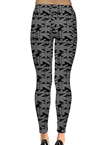 CowCow - Legging - Femme Multicolore Original Multicolore - Noir et blanc