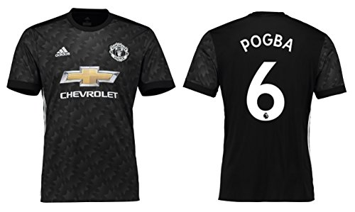 Maillot homme ADIDAS MANCHESTER UNITED 2017–2018 Away – Pogba 6, Pogba 6
