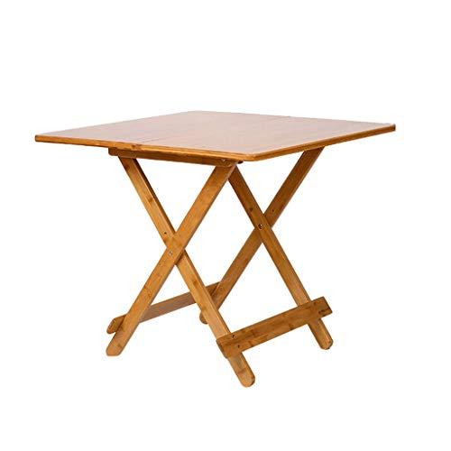 48-FEITENGDAYE Klapptisch, einfacher Esstisch, Kleiner Haushalt, quadratischer Bambus-Tisch