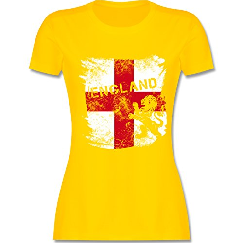 EM 2016 - Frankreich - Englandflagge & Löwe Vintage - tailliertes Premium T- Shirt mit