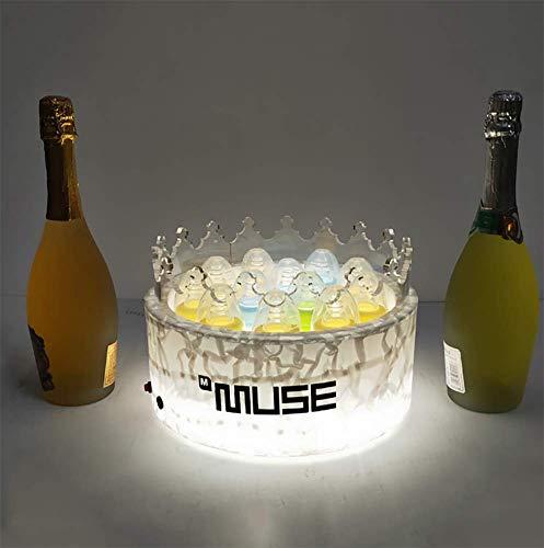 JUSTINZZ LED Eiskübel, Großraum Flaschenkühler - Sektkühler - Weinkühler - Getränkekühler - Kühler LED Wasserdicht Für Party, Haus, Bar, Etc.