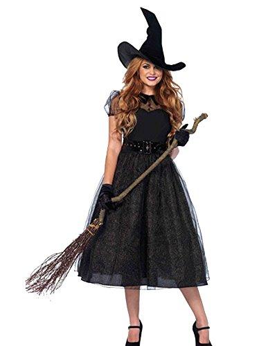 Donna raccapricciante zombie strega vampira addobbi per halloween costume nero 3342 s