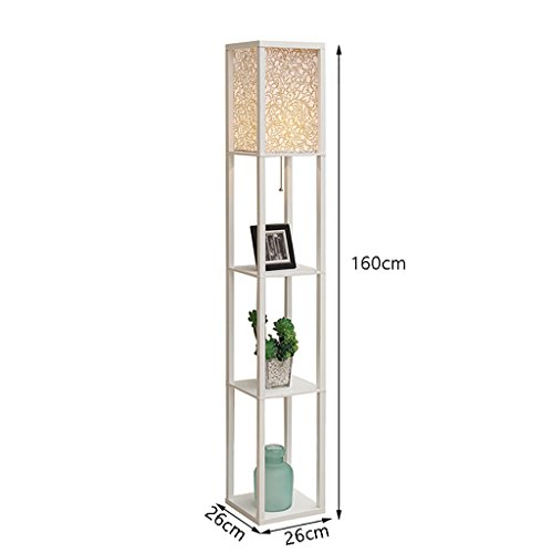 Stehlampe, minimalistischen weißen Holz Regal Bücherregal Schlafzimmer Wohnzimmer Sofa Pergola...