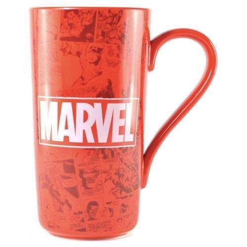 Marvel Muglmv01 Logo Latte Mug, Ceramic-500ml, Rouge
