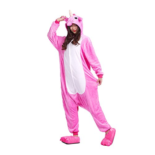 Cartoon Onesies Pyjamas Neuheit Cosplay Kostüme Nachtwäsche Jumpsuits Unicorn Rose Große ()