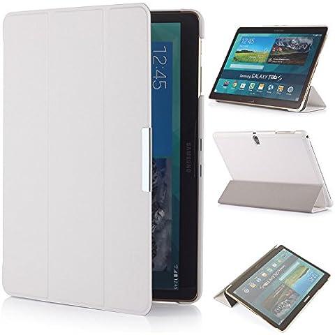 iHarbort® Samsung Galaxy Tab S 10.5 Funda - ultra delgado ligero Funda de piel de cuerpo entero para Samsung Galaxy Tab S 10.5 (T800 T805), con la función del sueño / despierta