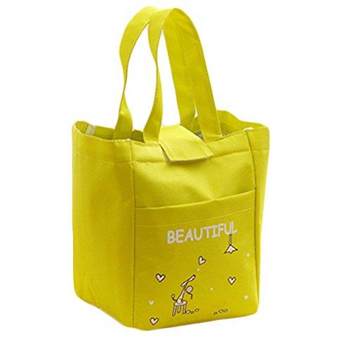 QHGstore Il pranzo Tote Bag Insulated isolamento termico sacchetto del fumetto per Viaggi e picnic verde - Alta Isolamento Termico