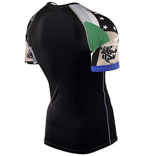 Zipravs Herren Damen Unterwäsche Kompressionshirt Compression Short Sleeve ZCSS-56